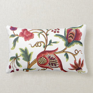 Princess Anne Faux Jacobean Embroidery Pillow