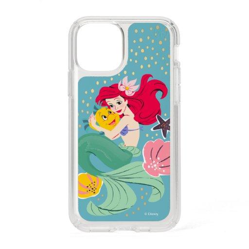 Princess Ariel Holding Flounder Illustration Speck iPhone 11 Pro Case
