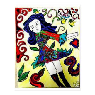Princess Art-Daisey Van Diesel Postcard