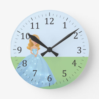Princess Art Wall Clock Personalized