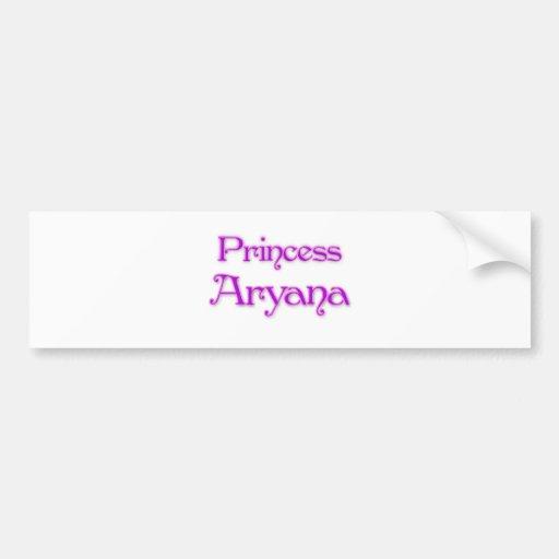 Princess Aryana Bumper Stickers