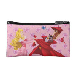 Princess Aurora and Forest Animals Cosmetic Bag