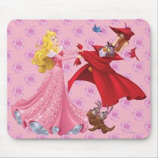 Princess Aurora and Forest Animals Mouse Pad