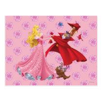 Princess Aurora and Forest Animals Postcard