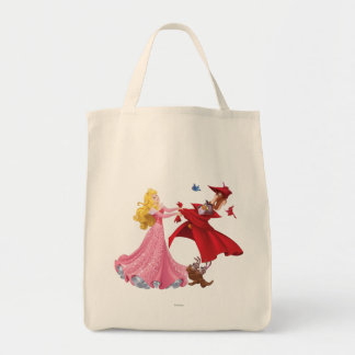 Princess Aurora and Forest Animals Tote Bag