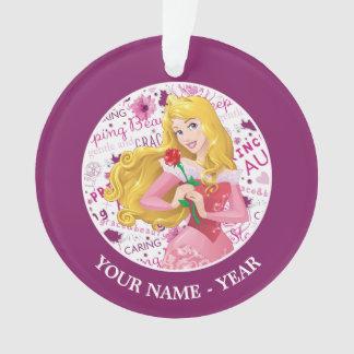 Princess Aurora   Aurora Holding Rose Add Your Nam Ornament