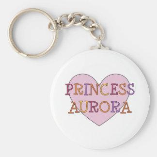 Princess Aurora Basic Round Button Keychain