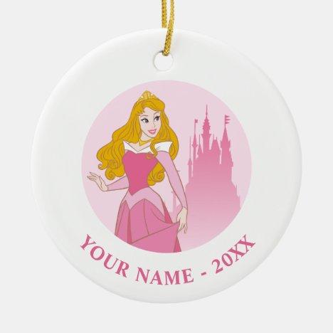 Princess Aurora & Castle Graphic Ceramic Ornament