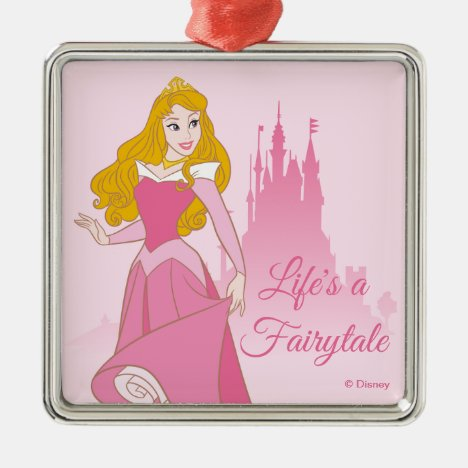 Princess Aurora & Castle Graphic Metal Ornament