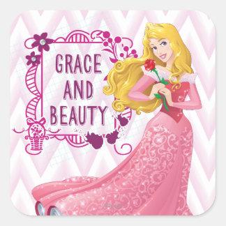 Princess Aurora Square Sticker
