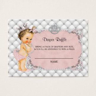 Princess Baby Diamonds Pearls Diaper Raffle Ticket