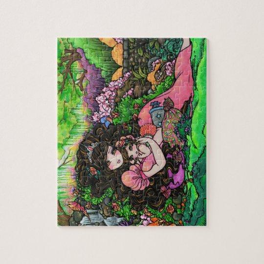 Princess Baby Fantasy Garden by Hannah Lynn Jigsaw Puzzle