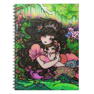 Princess Baby Fantasy Garden by Hannah Lynn Spiral Notebook