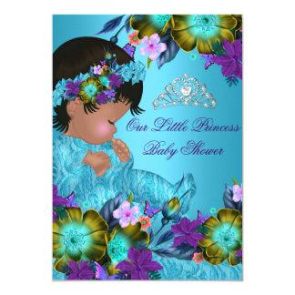 Princess Baby Shower Blue Teal Purple Girl Invite