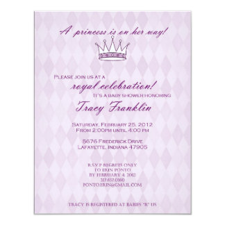 Princess Baby Shower Card