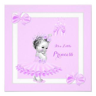 Princess Baby Shower Cute Girl Lilac Tutu Invitation