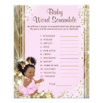 Princess Baby Shower Games Flyer