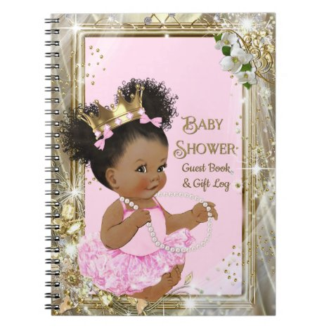 Princess Baby Shower Gift Log and Guest Book