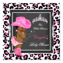 Princess Baby Shower Girl Cowgirl Ethnic Card