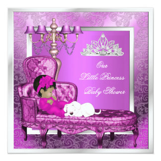 Princess Baby Shower Girl Pink Cute Baby Girl Invite