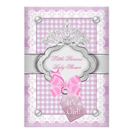 Princess Baby Shower Girl Pink Tiara Princess Invite
