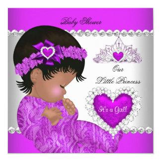 Princess Baby Shower Girl Purple Pink Heart Card