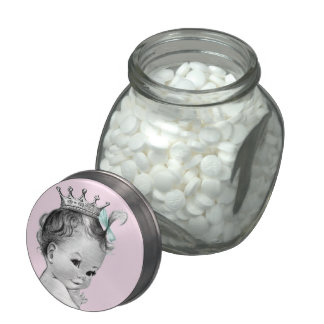 Princess Baby Shower Glass Candy Jars