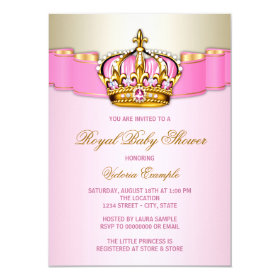 Princess Baby Shower 4.5x6.25 Paper Invitation Card