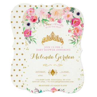Amazing Princess Baby Shower Invitation