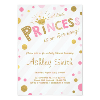 little princess baby shower invitations announcements zazzle