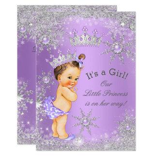 Princess Baby Shower Lavender Wonderland Card
