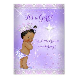 Princess Baby Shower Lilac Lavender Tiara Ethnic Card