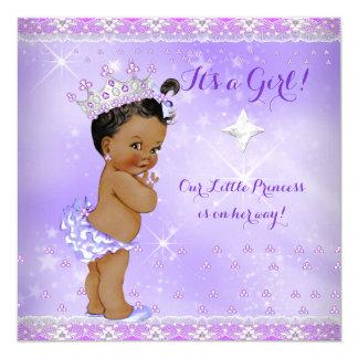 Princess Baby Shower Lilac Purple Lavender Ethnic Card