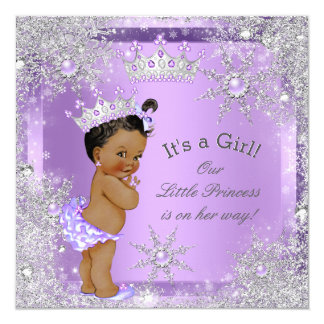 Princess Baby Shower Lilac Wonderland Ethnic Card