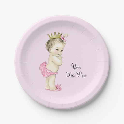 Baby Shower Plate: Princess Baby Shower Paper Plate