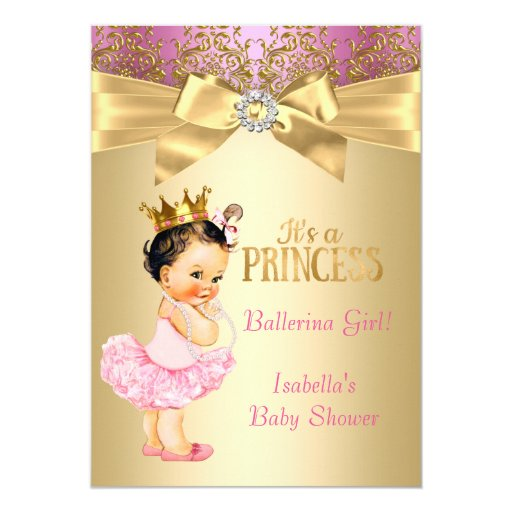 Ballerina Baby Shower Invitation with adorable invitations example