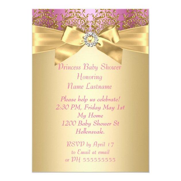 princess baby shower pink gold ballerina ethnic card   zazzle, Baby shower invitations