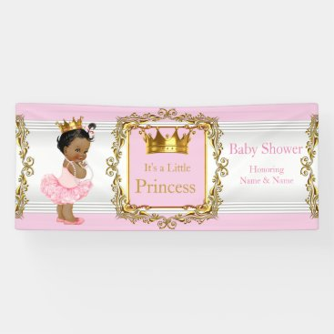 Toddler & Baby themed Princess Baby Shower Pink Gold White Ethnic Banner