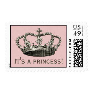 Princess Baby Shower Postage Stamp