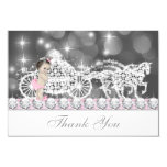 Princess Baby Shower Thank You Card