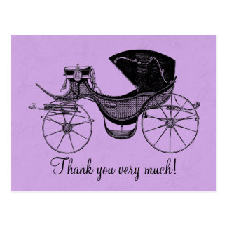 Princess Baby Shower Thank You Post Cards