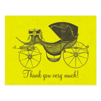 Princess Baby Shower Thank You Post Card