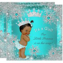 Princess Baby Shower Winter Wonderland Ethnic Card