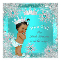 Princess Baby Shower Winter Wonderland Ethnic Card