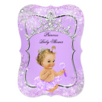 Princess Baby Shower Wonderland Lilac Blonde Card