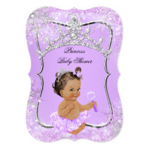 Princess Baby Shower Wonderland Lilac Brunette Card