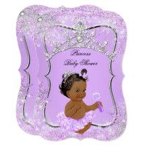 Princess Baby Shower Wonderland Lilac Ethnic Card