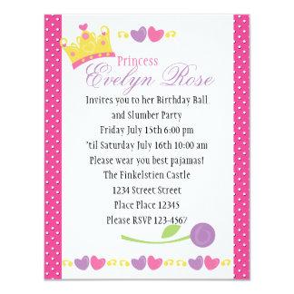 Princess Ball Personalized Invites