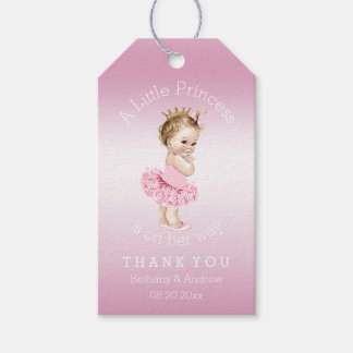 Princess Ballerina Baby Shower Personalized Pink Gift Tags