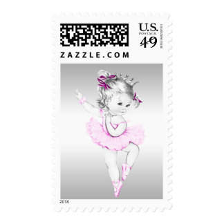 Princess Ballerina Baby Shower Postage Stamp